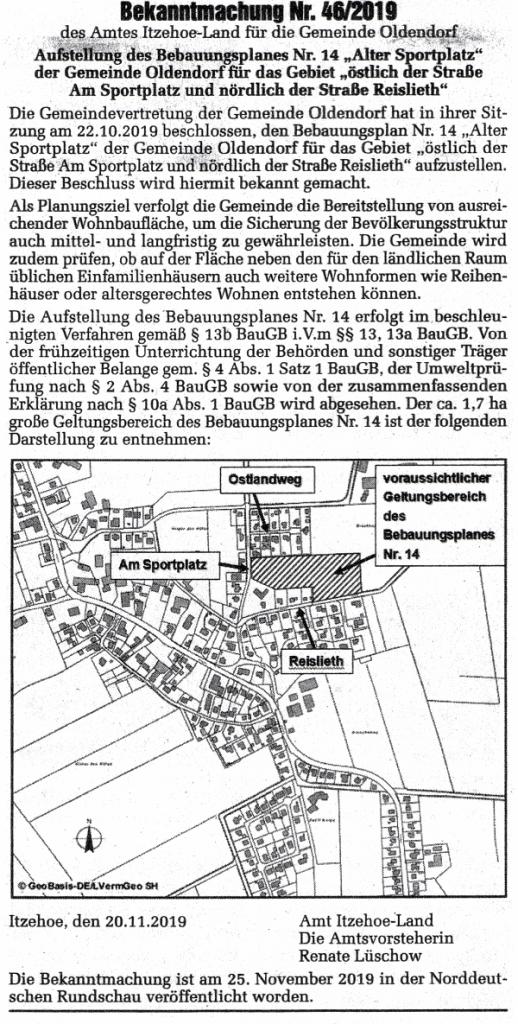 Oldendorf_Steinburg_Bekanntmachung B-Plan14